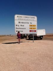 Christine by desert sign
