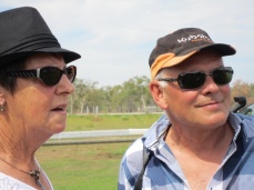 Olive and Richard at Races