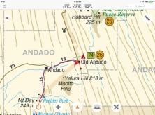 Andado map