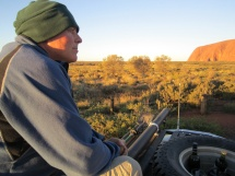 Watching Uluru at Sunset