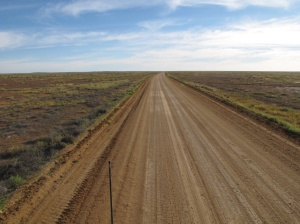 Woomera - a lonely track