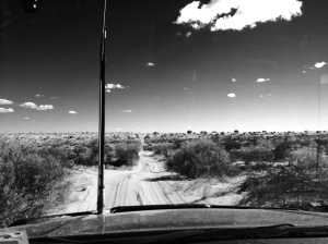 Driving in the desert