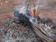 Smoky fire