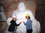Rubbing Buddhas belly