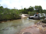 Creek crossing, old telegraph track,Cape york