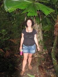Deb in Daintree rainforest