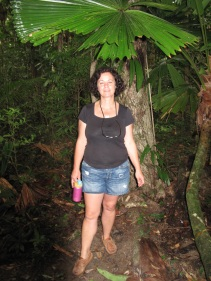 Deb in Daintree rainforest