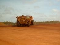 Mine haulage truck at Weipa