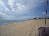 Driving on the beach