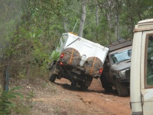 Two Utes stuck